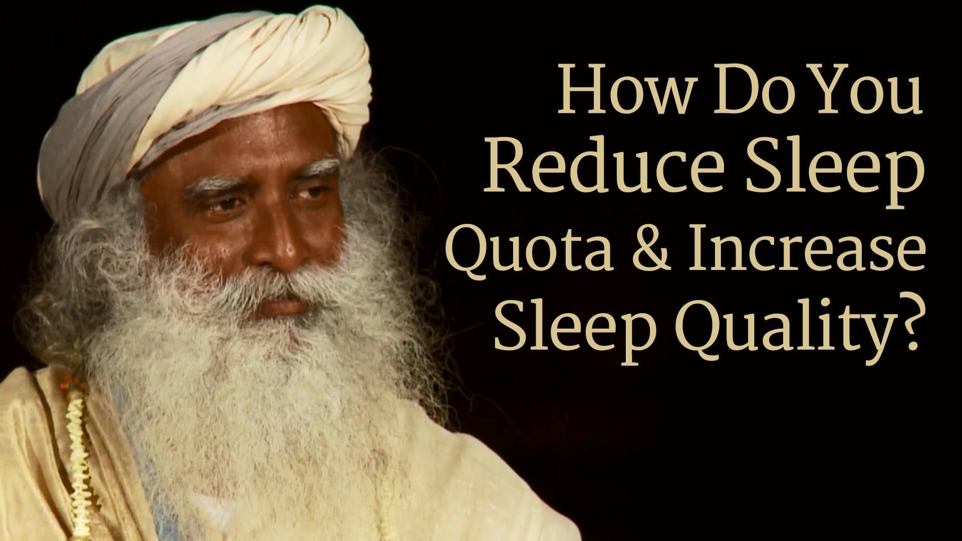 How to reduce sleep